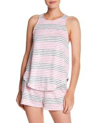 Kensie - Stripe Knit Tank Top - Lyst
