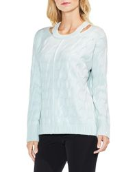Vince Camuto - Keyhole Neck Cable Jumper - Lyst