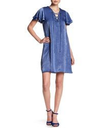 Soprano - Lace Up Shift Dress - Lyst