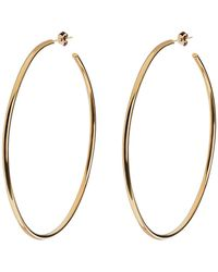Eklexic - Thin Round Wire Hoop Earrings - Lyst