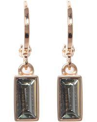 Vince Camuto - Huggie Hoop & Faceted Crystal Drop Earrings - Lyst