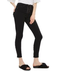 TOPSHOP - Jamie Lace-up Fly Skinny Jeans - Lyst