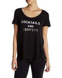 Betsey Johnson - Cocktails & Confetti Short Sleeve Swing Tee - Lyst