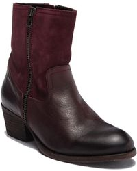 H by Hudson - Riley Leather Ankle Bootie - Lyst