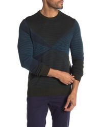 Perry Ellis - Colorblock Crew Neck Sweater - Lyst