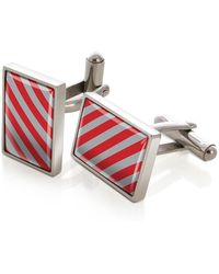 M-clip - Rectangular Striped Cufflinks - Lyst