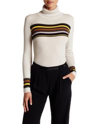 Lands' End - Turtleneck Stripe Wool Sweater - Lyst