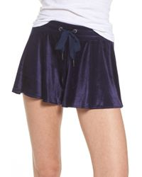 Make + Model - Paris Velour Lounge Shorts - Lyst