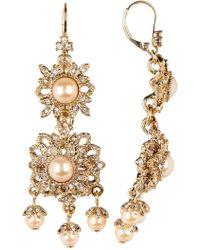 Marchesa - Medium Chandelier Faux Pearl Earrings - Lyst