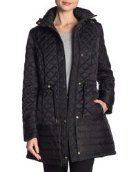 Laundry by Shelli Segal - Quilted Hooded Anorak - Lyst