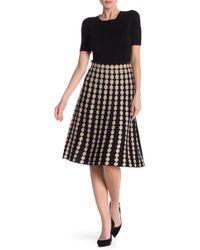 Lauren Hansen - Dotted Knit Flared Skirt - Lyst