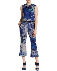 ABS By Allen Schwartz | Floral Print Cropped Flare Pant | Lyst