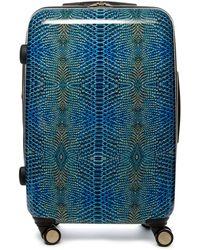 """Aimee Kestenberg - 28"""" Metallic Snake Print Rolling Suitcase - Lyst"""