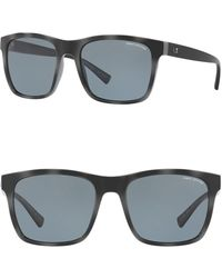 Armani Exchange - 57mm Polarized Square Sunglasses - Lyst