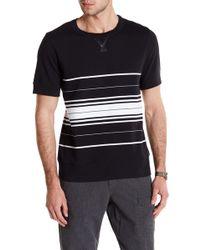 Lands' End - Striped Short Sleeve Sweatshirt - Lyst