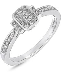 Bony Levy - 18k White Gold Pave Diamond Single Station Ring - 0.10 Ctw - Lyst
