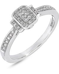 Bony Levy | 18k White Gold Pave Diamond Single Station Ring - 0.10 Ctw | Lyst