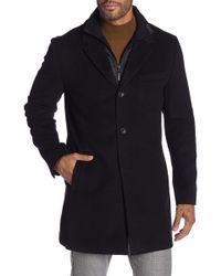 Michael Kors - Black Slim Fit Coat - Lyst