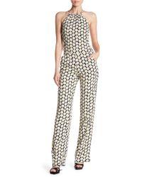 Love Moschino - Floral Print Halter Jumpsuit - Lyst