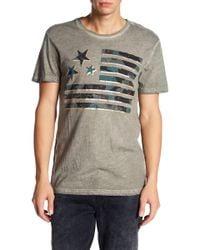 William Rast - Camo Flag Graphic Print Tee Shirt - Lyst