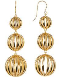 Trina Turk Open Bead Triple Drop Earrings Lyst