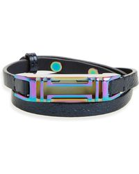 Tory Burch - For Fitbit Leather Wrap Bracelet - Lyst