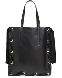 TOPSHOP - Premium Leather Grace Tote Bag - Lyst