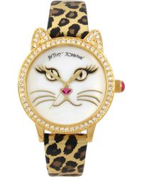 Betsey Johnson - Women's Mother Of Pearl Cat Watch, 36mm - Lyst