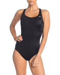 c3ea7de9f4a Nike Racerback One-piece Swimsuit (plus Size) in Black - Lyst