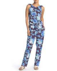 Maaji - Ultramarine Floral Jumpsuit Cover-up - Lyst