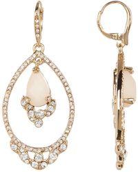 Jenny Packham - Orbital Crystal & Glass Drop Earrings - Lyst