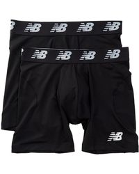 "New Balance - Performance Everyday 6"" Boxer Briefs - Pack Of 2 - Lyst"
