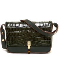 Elizabeth and James - Cynnie Croc Embossed Leather Shoulder Bag - Lyst