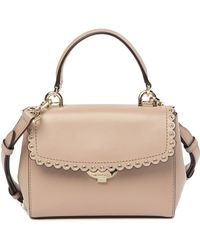 MICHAEL Michael Kors - Extra Small Scallop Leather Crossbody Bag - Lyst
