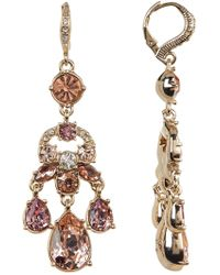 Givenchy - White & Blush Glass Crystal Chandelier Earrings - Lyst