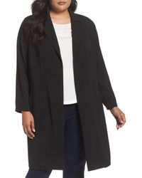 Vince Camuto - Texture Drape Front Col Duster - Lyst