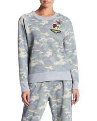 Madison & Berkeley - Long Sleeve Fleece Camo Patch Jumper - Lyst