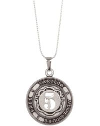 ALEX AND ANI - Numerology Number 5 Charm Adjustable Necklace - Lyst