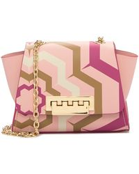 Zac Posen - Printed Leather Mini Crossbody Bag - Lyst