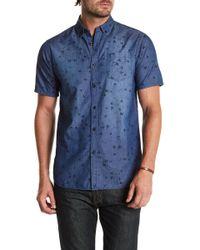 Indigo Star - Arata Printed Tailored Fit Shirt - Lyst