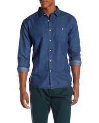 Knowledge Cotton Apparel | Patterned Denim Chambray Button Down Shirt | Lyst