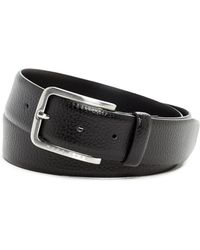 BOSS - Pebbled Leather Belt - Lyst