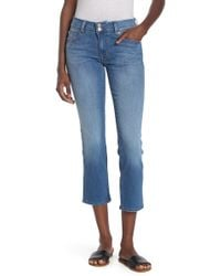 c578b858c4d Hudson Jeans Ginny Crop With Distressing In Gateways (White Distress) in  White - Lyst