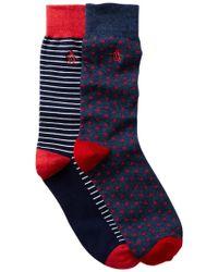 Original Penguin | Gabriel & Balboa Crew Socks - Pack Of 2 | Lyst