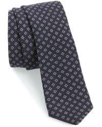 Eleventy - Neat Wool Skinny Tie - Lyst