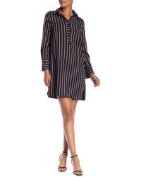 Max Studio - Stripe Shirt Dress - Lyst