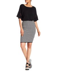 Max Studio - Print Jacquard Pencil Skirt - Lyst
