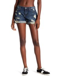 Articles of Society - Jimmy Distressed Denim Short - Lyst