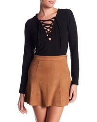 ANAMÁ - Lace-up Knit Blouse - Lyst