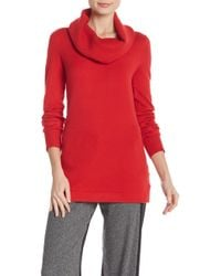 French Connection - Cowlneck Knit Tunic - Lyst